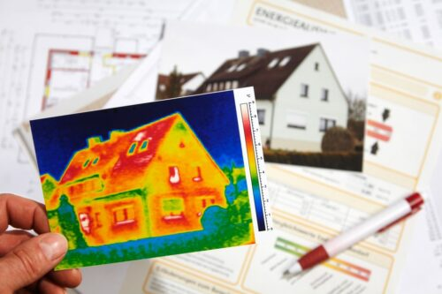 thermography of a house and Energy Performance Certificate 01